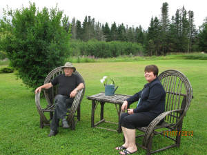 Former Mayor, Helen Reid, and Melvin Cross at his former home neart the Cache Rapids.