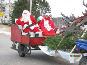 Santa and Mrs. Clause in the Christmas Parade.